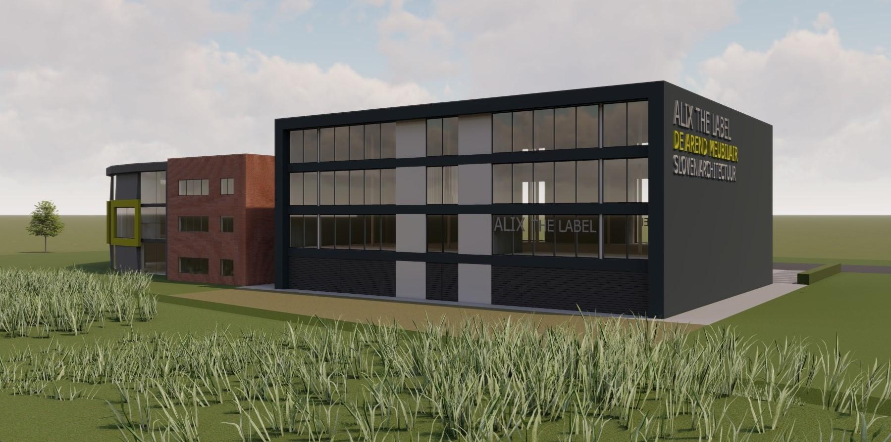 Nieuwbouw bedrijfspand Alix the label en De Arend