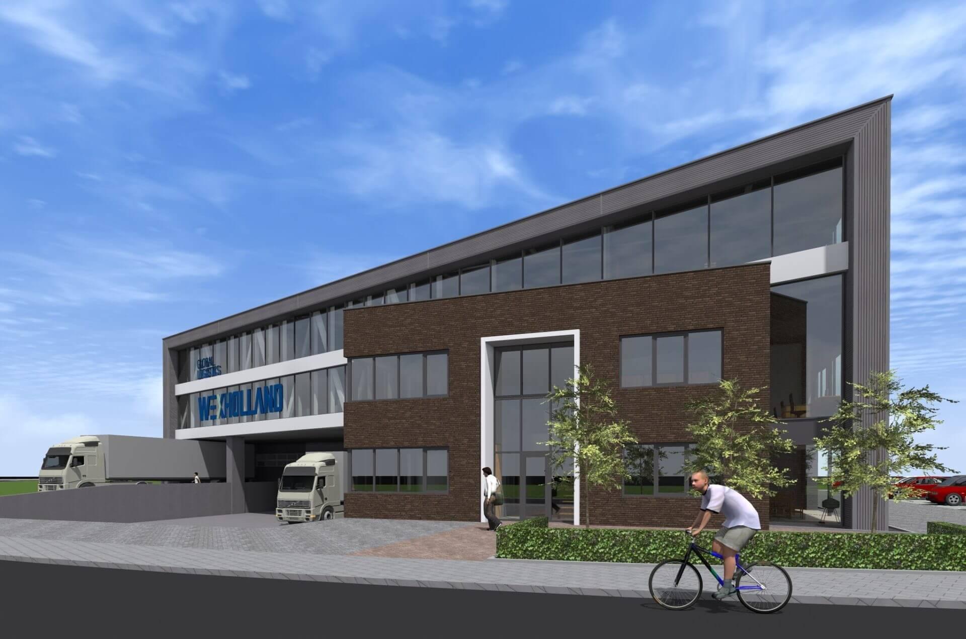 Nieuwbouw bedrijfspand WEX Holland te Schoonhoven